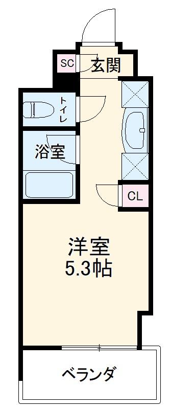 キャンパスヴィレッジ京都西京極・617号室の間取り