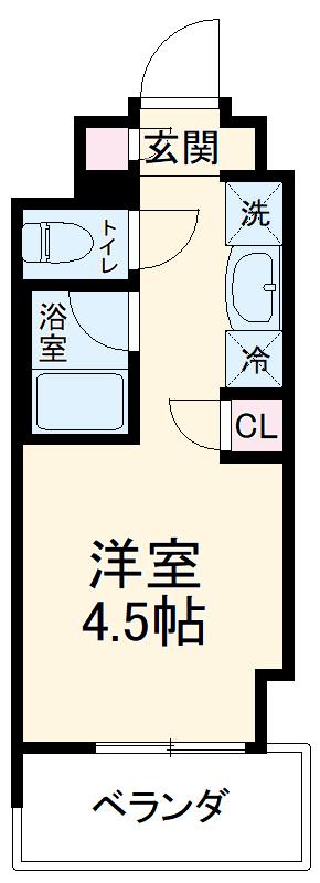 キャンパスヴィレッジ京都西京極・703号室の間取り