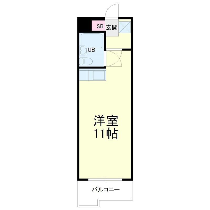 グレイス第3マンション・506号室の間取り