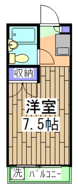 ドミ大田・312号室の間取り