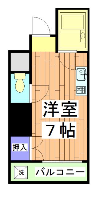 パルコーポ太子道・402号室の間取り