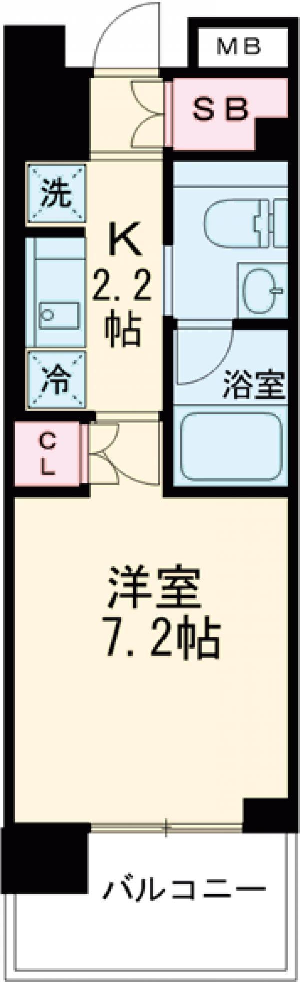 プライムメゾン早稲田通り・307号室の間取り