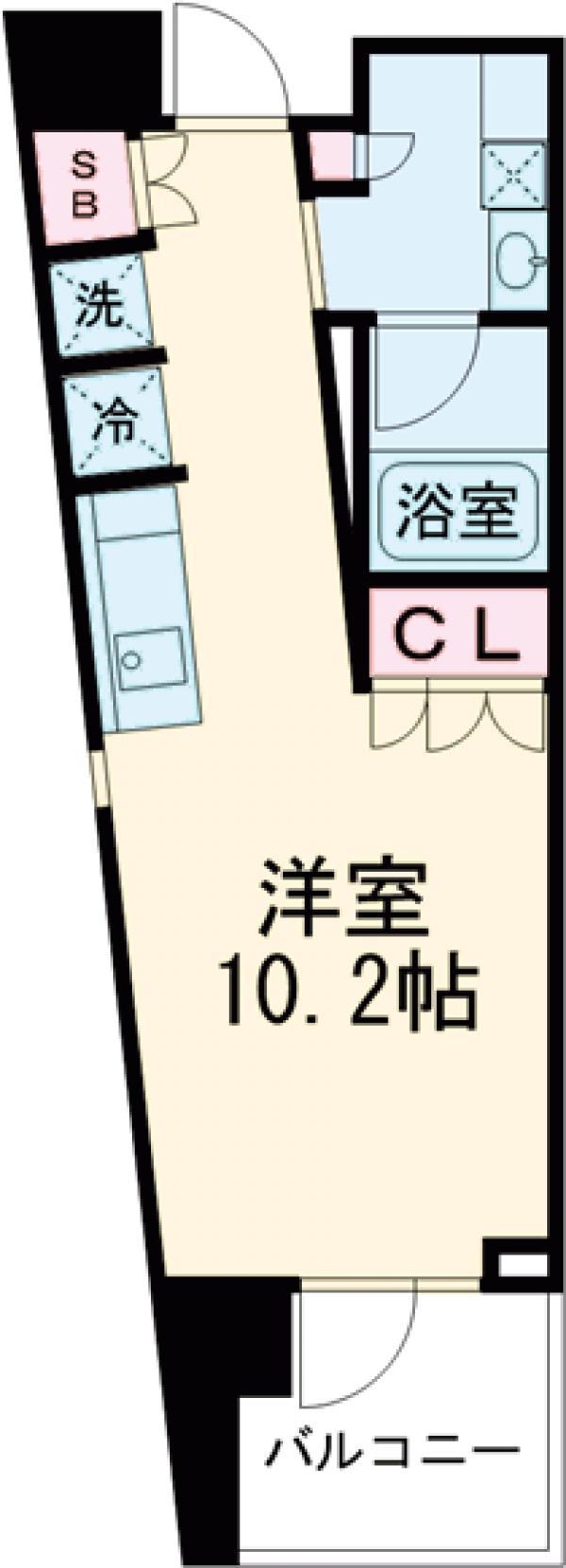プライムメゾン早稲田通り・805号室の間取り