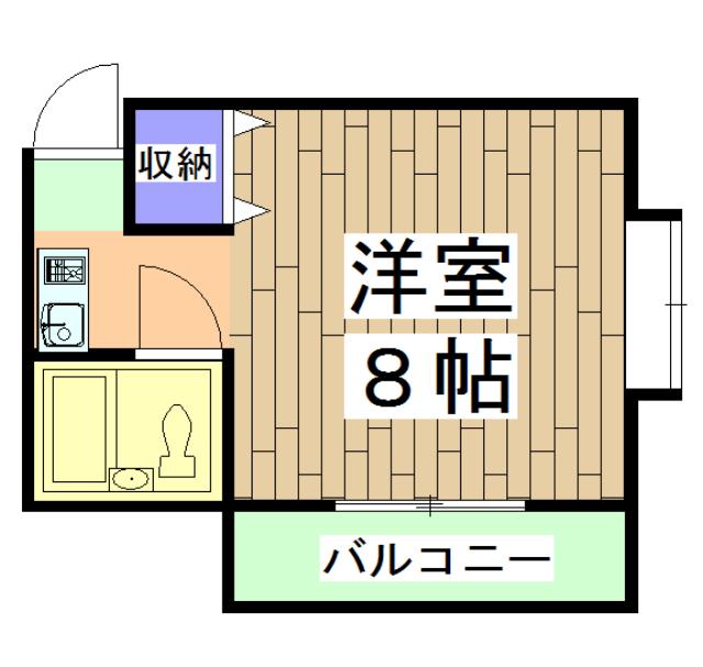 ピノハウス 208号室の間取り