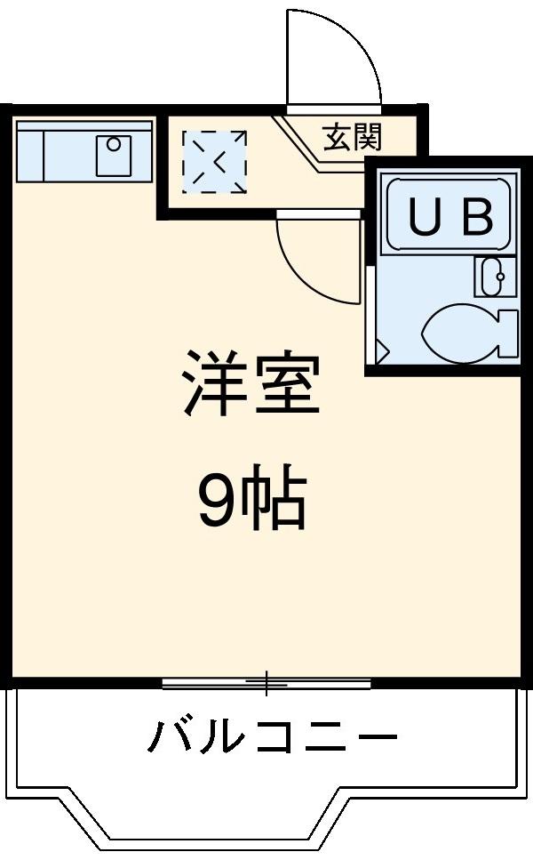 グレイス第1マンション 509号室の間取り