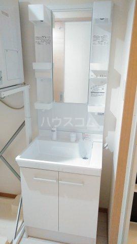 With結 203号室の洗面所