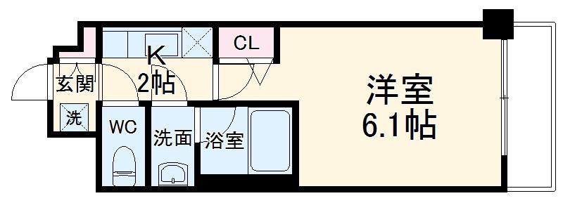 エステムコート京都西院 313号室の間取り