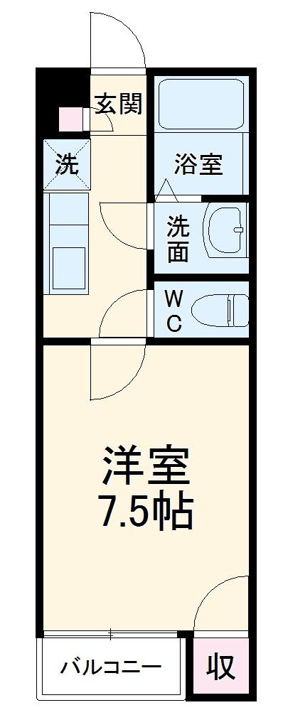 ラフォーレ福島・204号室の間取り