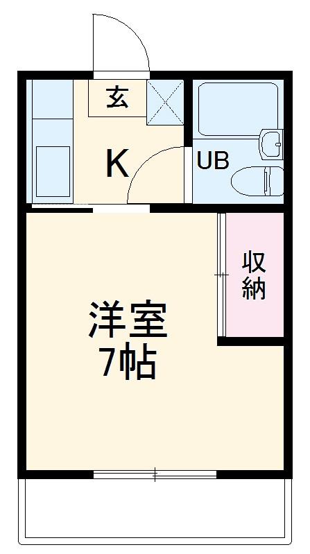 ハイドハウス・203号室の間取り