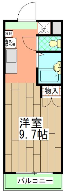 みつまめ京都・712号室の間取り