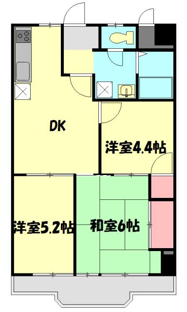 レジデンス平塚 504号室の間取り