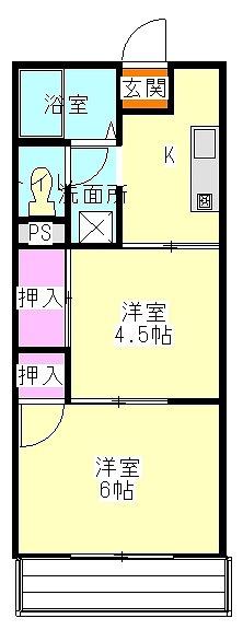 メゾン静一号棟 301号室の間取り