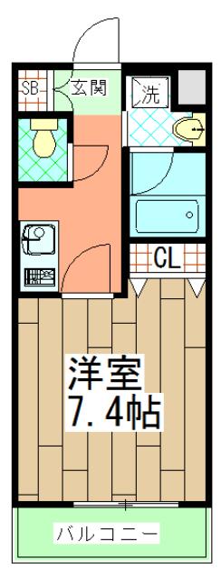 ベラジオ京都壬生イーストゲート・406号室の間取り