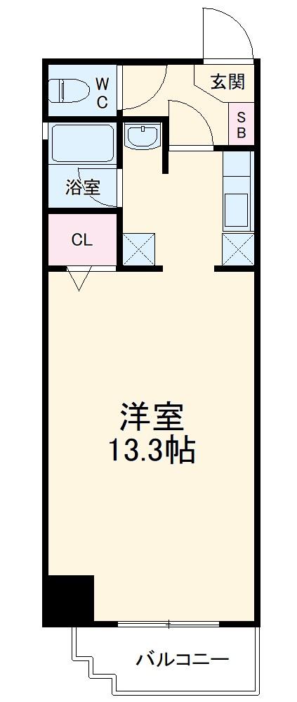 Sun State上飯田・503号室の間取り