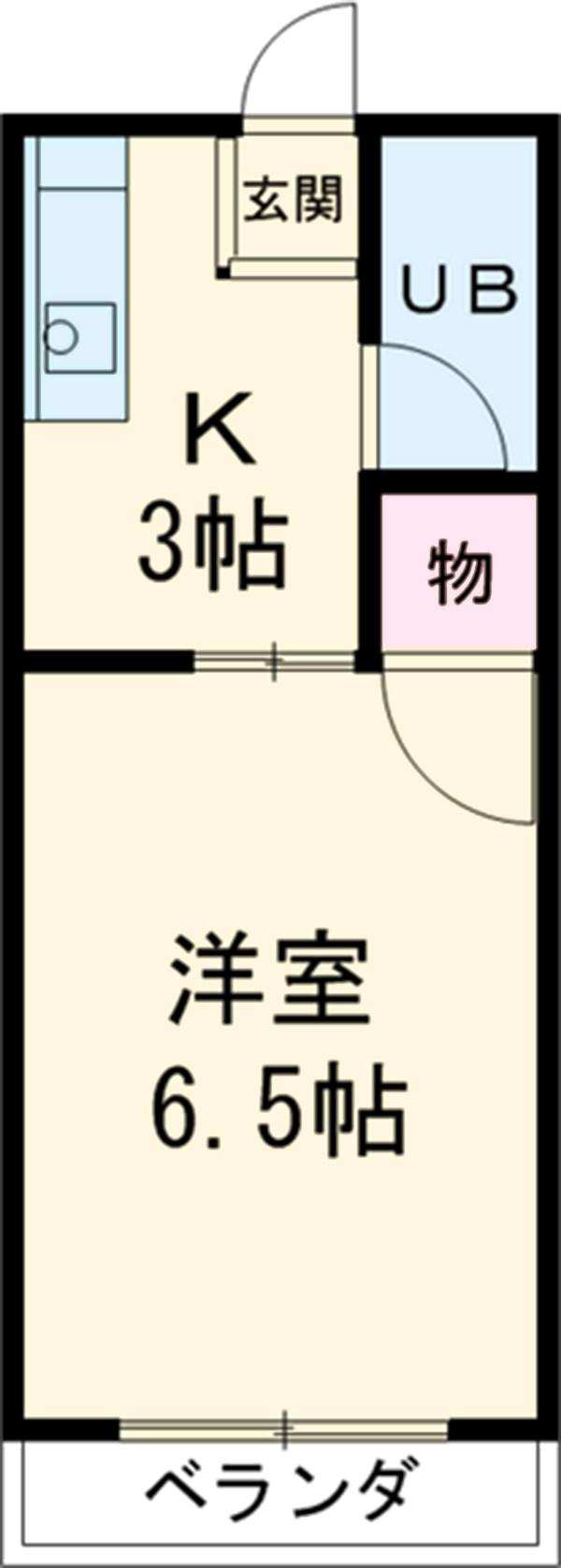 リードワン新川・302号室の間取り