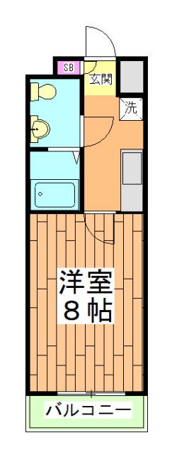 フラッティ壬生坊城 507号室の間取り