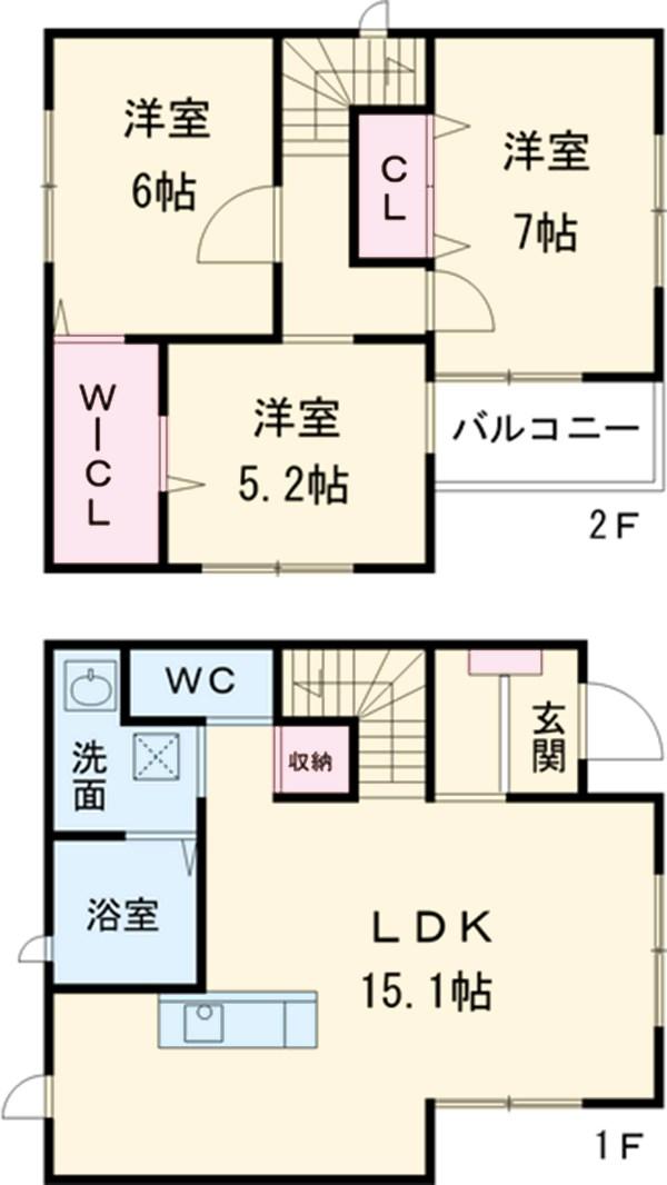 中屋敷21KODATEXⅣ・B号室の間取り