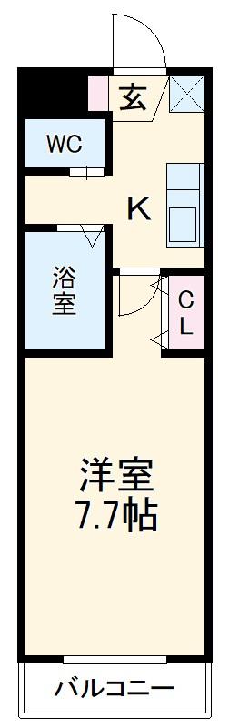 A-City清須 110号室の間取り