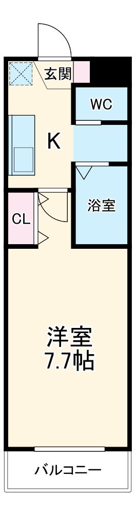 A-City清須 303号室の間取り