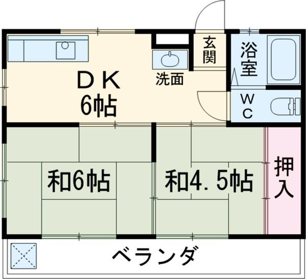 コーポ前田・303号室の間取り