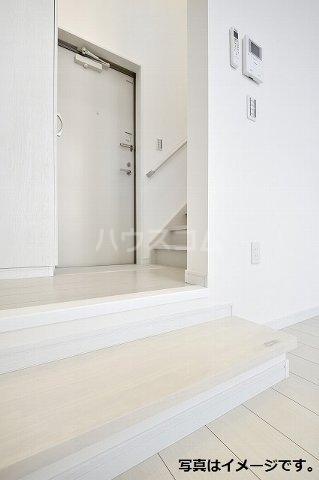 プレンフル 102号室の玄関