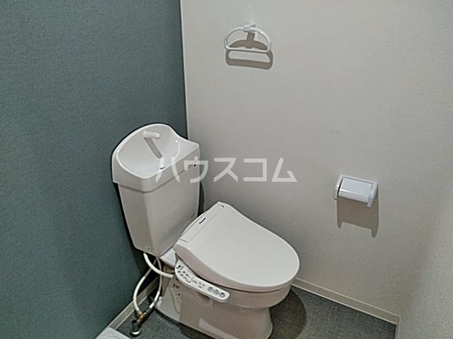 グラスプラス渋沢 201号室のトイレ
