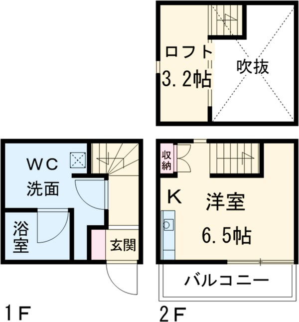 HAWK名古屋・B号室の間取り