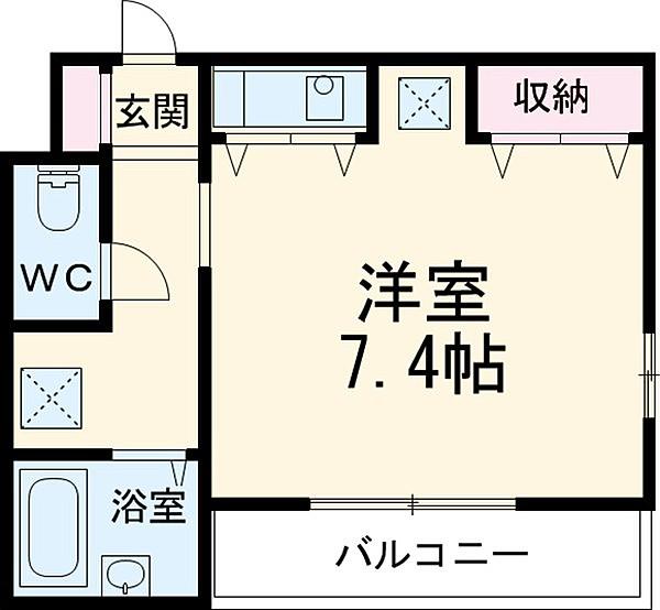 ピュアハウスS-2・101号室の間取り