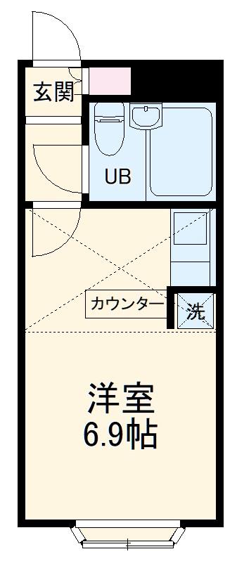 ベルピア渋沢第2・201号室の間取り