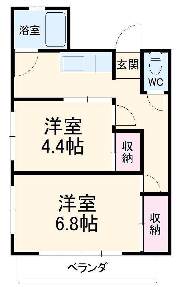 ステーションサイド新横浜・205号室の間取り
