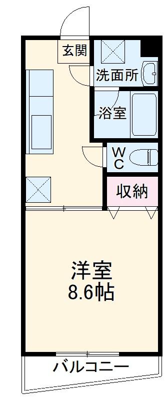 ルシエル48・206号室の間取り