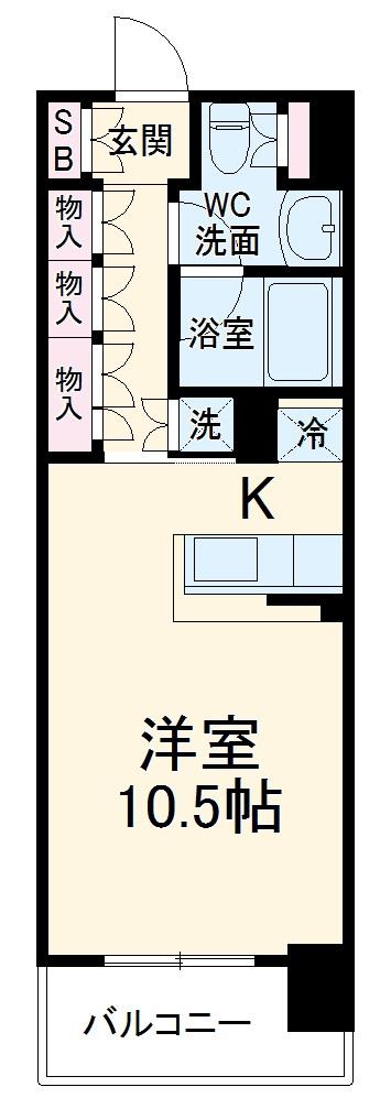 HF新横浜レジデンス・710号室の間取り