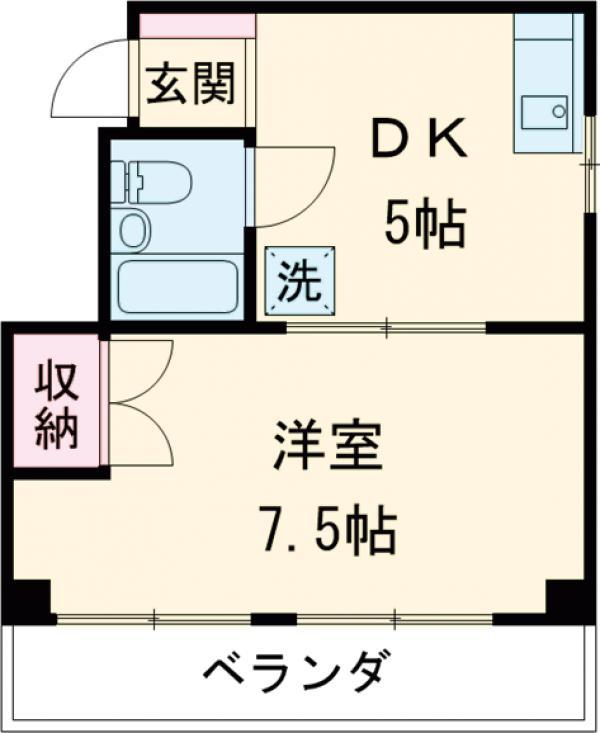 BLDG福島・302号室の間取り