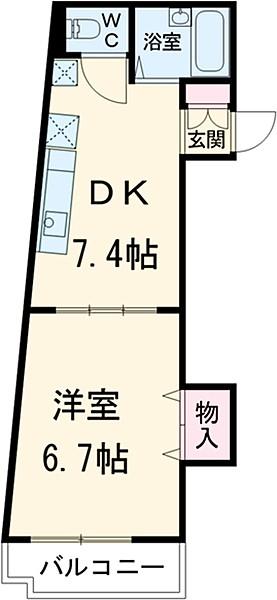 増田ビル・202号室の間取り