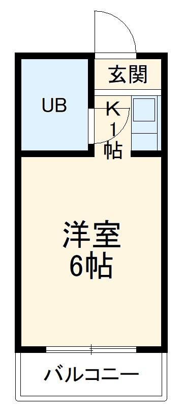 プレスイン山王・3F号室の間取り
