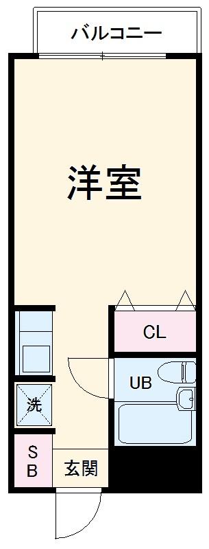 ラレーブ東川口・207号室の間取り