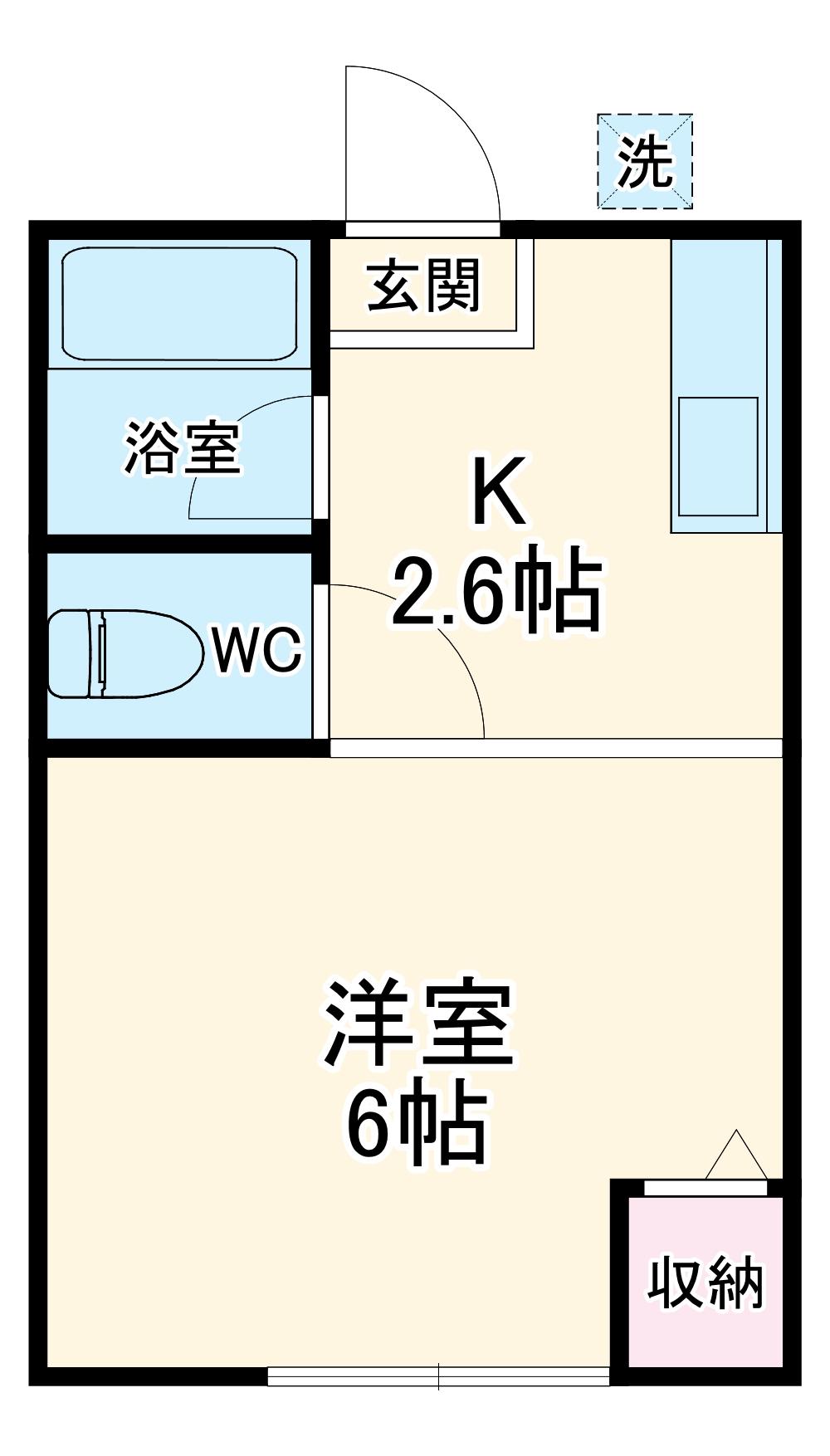 今井ハイツD棟・105号室の間取り