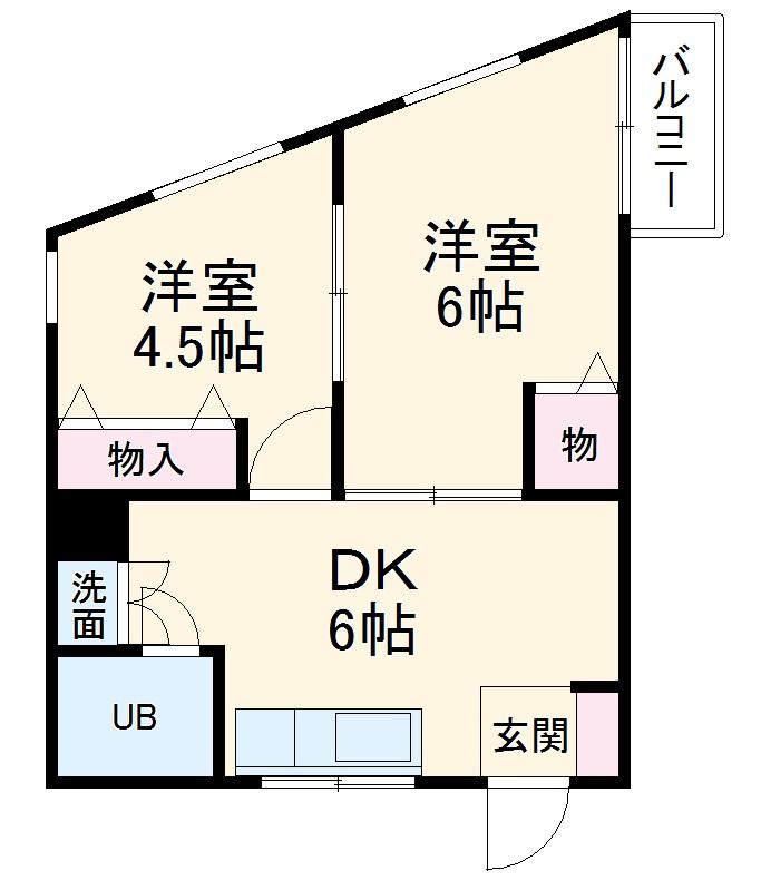 パークマンション東川口・201号室の間取り