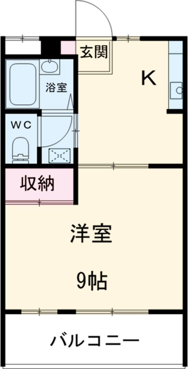 第2すみよさ荘・54号室の間取り
