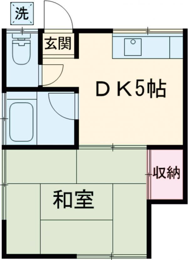 田中ハイツ・203号室の間取り