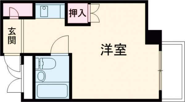 第二華岡マンション・202号室の間取り
