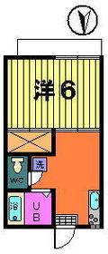 第二オリオンハイツ 2-A号室の間取り