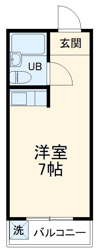 エスポワール豊川・1F-B号室の間取り
