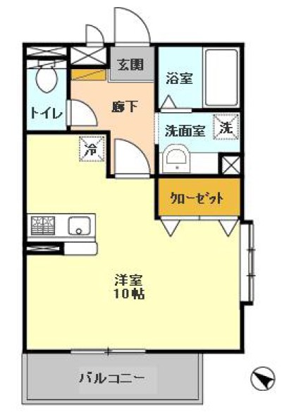 ハイツYOSHIHARU・201号室の間取り
