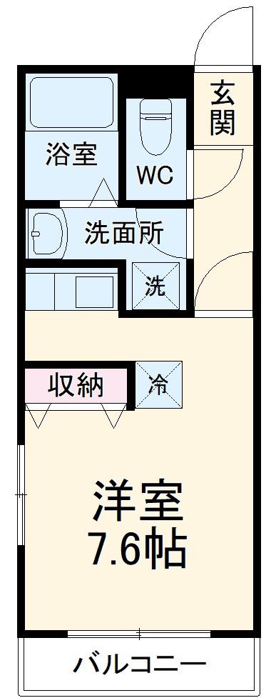 アーネス戸塚B・205号室の間取り