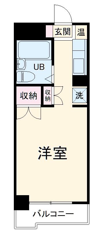 ガーデンヒルズ横浜 107号室の間取り