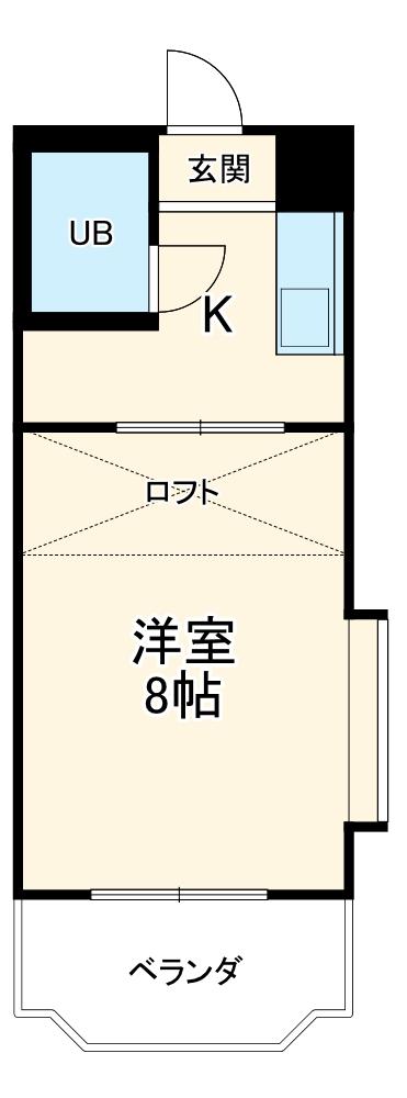コナビック西塚 Ⅱ 2G号室の間取り