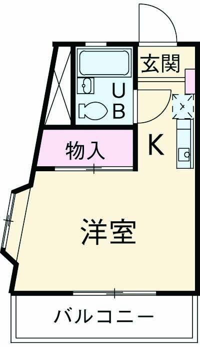 ドムール平塚第Ⅳ・101号室の間取り