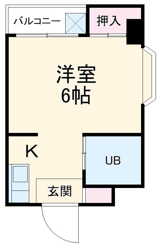 SBS92・5-D号室の間取り