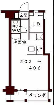 コリドールエスト・202号室の間取り